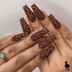 Beautiful nails by 😍 Ugly Duckling Nails is dedicated to keeping love, support, and positivity flowing in our industry ❤️ ~ hilall Tiger Nails, Leopard Print Nails, Tiger Nail Art, Cute Nails, Pretty Nails, My Nails, Long Acrylic Nails, Long Nails, Nail Art Instagram