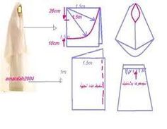 Dress Sewing Patterns, Clothing Patterns, Hijab Fashion, Diy Fashion, Abaya Pattern, Modele Hijab, Hijab Tutorial, How To Make Clothes, Pattern Drafting