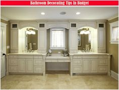 A white bathroom storage cabinet blends well with most decor.here are 25 White Bathroom Cabinets Ideas Bathroom Furniture, Kitchen Cabinets In Bathroom, Double Vanity Bathroom, Master Bathroom Vanity, Bathroom Wall Cabinets, Custom Bathroom Vanity, Amazing Bathrooms, Bathroom With Makeup Vanity, Bathroom Design
