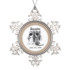 Veterinary Graduation Dog and Cat Round Gift Snowflake Pewter Christmas Ornament