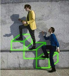 clever use of camera illusion