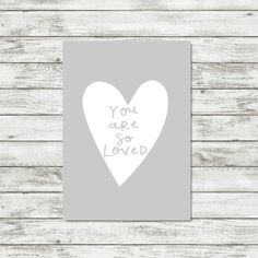 So Loved Print Grey Nursery Wall Art Gift For Baby Grey Nursery Print Heart Print Gender Neutral Nursery Decor Baby Wall Art Baby Decor by violetandalfie on Etsy
