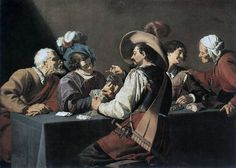 Theodoor Rombouts, The Card Players on ArtStack #theodoor-rombouts #art