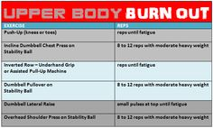 upper body workouts | looks of this workout, get more great workouts in the 8 week Best Body ...
