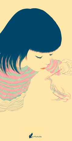 Kato by Nino Kvachadze, via Behance illustration Art And Illustration, Graphic Design Illustration, Graphic Art, Pop Art, Art Drawings, Art Photography, Indie, Amazing, Artwork