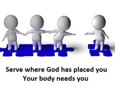 God has placed each one of the parts in one body just as He wanted. 1 Corinthians 12:18 HCSB
