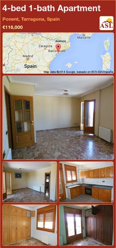 Apartment for Sale in Ponent, Tarragona, Spain with 4 bedrooms, 1 bathroom - A Spanish Life Apartments For Sale, Andorra, Property For Sale, Spanish, Bedroom, Life, Spanish Language, Bedrooms