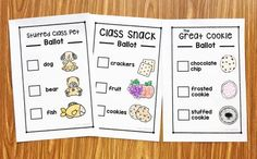 Mock Election ideas appropriate for kindergarten and first grades.