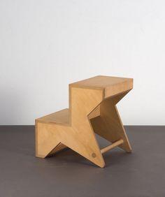Andreas Brandolini; Birch Plywood Stool/Step/Basket for Cappellini, c1990.