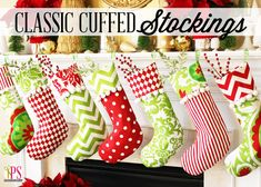 GREAT tips on how to make Classic Cuffed Christmas Stocking Pattern www.PositivelySplendid.com