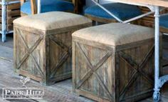 Single or grouped, our Square Burlap Box Seats are a great update for seating.