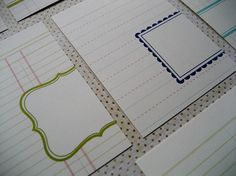 more journaling cards