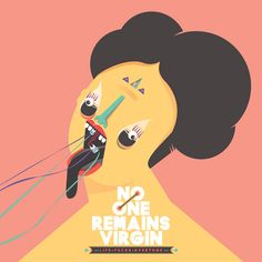 """""""No One Remains Virgin"""" package design by PING WONG, via Behance"""