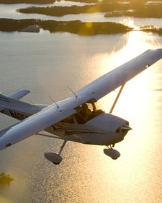 One of the coolest things in the world? Flying in a Cessna over the beach at sunset. Can't wait to do it again!