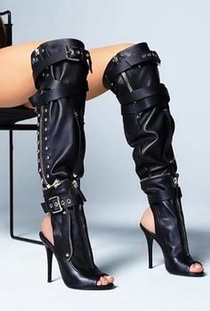 Details about  /Custome Made Women/'s Super High Heels Over Knee High Thigh Boots Platform Shoes