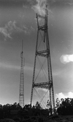 Sutro Tower, under construction (from the San Francisco Chronicle's files, 1972)