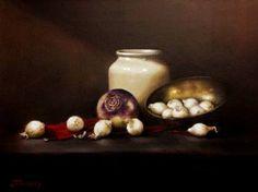 "Saatchi Art Artist Judith Harvey; Painting, ""Turnip and Onions"" #art"