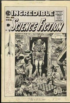Vintage Comics, Vintage Art, Comic Book Companies, Jack Davis, Ec Comics, Magic Eyes, Comic Art, Sci Fi, Horror