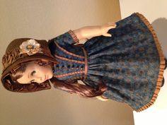 1850's dress and bonnet for Marie-Grace / Cecile by Lynn Egigian.