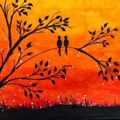 30 Easy Landscape Paintings Ideas for Beginners - Sunrise Paintings, T – Grace Painting Crafts #lanscapepaintings #landscapeart #sunrisepainting #sunsetpainting #moonpainting #treepainting Sunset Painting Easy, Love Birds Painting, Sunrise Painting, Lake Painting, Hand Painting Art, Abstract Flower Art, Abstract Canvas Wall Art, Large Canvas Art, Large Art