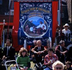 Peter Laud images of banners at the gala from 1970's lovely slice of life in these too....Seaham Lodge Banner, Durham Miners' Gala