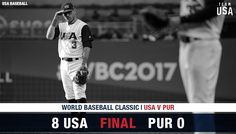 USA wins their World Baseball Classic Baseball Tournament, World Baseball Classic, Team Usa, Finals, Gold, Final Exams