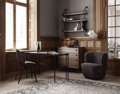 The Multi-Lite Floor Lamp by GUBI happily embraces the golden era of Danish design. Two mobile shades can be arranged to direct light in a single direction, or staggered to create a moody asymmetrical look. Bureau Design, Danish Furniture, Furniture Design, Office Furniture, Eames, Beetle Chair, Muuto, Brass Floor Lamp, Luxury Furniture Brands