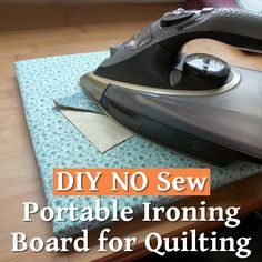 How to Make a DIY Tabletop Ironing Board a Mini Portable Board Pad You Can Iron on for Small Quilting and Sewing Projects Mini Ironing Board, Tabletop Ironing Board, Ironing Pad, Ironing Boards, Diy Quilting Ironing Board, Sewing Machine Tables, Craft Tutorials, Craft Ideas, Quilt Tutorials