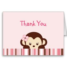 Shop Mod Monkey Thank You Note Cards created by little_prints. Personalize it with photos & text or purchase as is! Mod Monkey, Monkey Girl, Thank You Note Cards, Custom Thank You Cards, Make Your Own, How To Make, Smudging, Paper Texture, New Baby Products