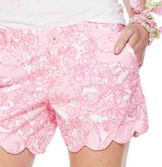 Lilly Pulitzer Buttercup Scallop Hem Short in She's a Fox. I'm dying to have something in this print.