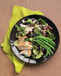 Chicken Dinners in 30 Minutes // Seared-Chicken Salad with Green Beans, Almonds, and Dried Cherries Recipe
