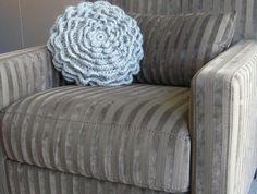 Plump Crochet Flower Pillow