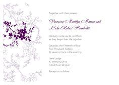 20 flower wedding invitations wedding invitation ideas - Wedding Invitation Templates Word