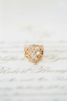 Beautiful Ring - Seen on SMP: http://www.StyleMePretty.com/2014/05/28/romantic-glamour-in-miami/ Photography: KTMerry.com