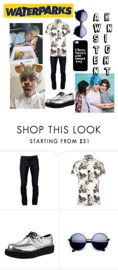 """Untitled #677"" by sleeping-horizon-empires ❤ liked on Polyvore featuring Kill City, River Island, T.U.K., Casetify, men's fashion and menswear"
