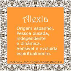Significado do nome Alexia   Significado dos Nomes