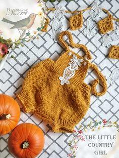 Romper - Pumphose - Baby - Babyprobs - Gelb - Herbst - Kürbis