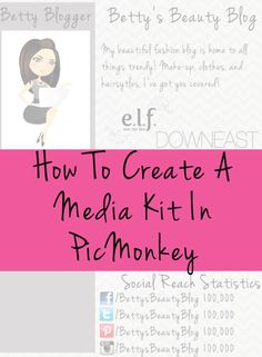 How To Create A Media Kit In PicMonkey - Becca Ludlum for Learn Like A Mom! http://learnlikeamom.com/around-the-house/screen-time/create-med...