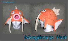 I really should be studying for my exam tomorrow, but I just got the pics off my brother& camera so I felt like posting them. This is the magikarp hat I made as a donation to the charity auct. Fleece Patterns, Sewing Patterns, Crochet Patterns, Pokemon Hat, Cool Pokemon, Magikarp Hat, Pokemon Merchandise, Fleece Hats, Halloween Hats