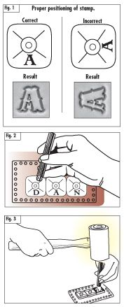 Using Craftool Alphabet and 3-D Stamps
