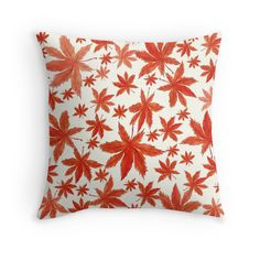 red maple leaves pattern