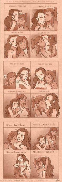 Kissing meme - Korrasami by K-Y-H-U on deviantART