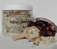 """Twilight Woods and Patchouli Scented Tub Tea for Men with Dead Sea Salts and White Sage are just perfect for that special Tub Time Soak by SunscapesSoapsnSoaks on Etsy. $17.99  Dead Sea Salts with White Sage, Chamomile, Eucalyptus and Rosemary combined with the soothing Epsom salts for a wonderful woodsy bath soak. Sit back and enjoy a long hot soak to relax after a busy day or perhaps just to have some extra, special """"Tub Time"""" for yourself! This smells Amazing guys!"""