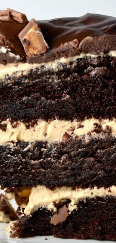 Chocolate Peanut Butter Cup Overload Cake. Cool New Music From Alt-J. | I Sing In The Kitchen