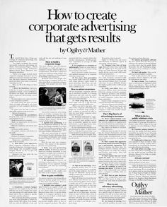 You searched for ogilvy - Swipe File Best Advertising Campaigns, Advertising Agency, Clever Advertising, Advertising Design, Advertising Photography, Photography Business, Small Business Marketing, Content Marketing, Advertising Techniques