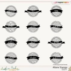 Allaire Stamps by Southern Creek Designs  @Plaindigitalwrapper