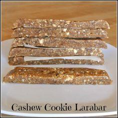 Raw Vegan Cashew Cookie Larabars