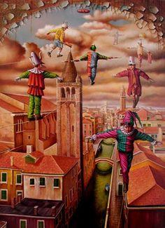 made by: Luiz De Souza , illustration - (Tightrope walkers)