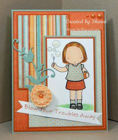 Blowing bubbles by sseffens - Cards and Paper Crafts at Splitcoaststampers