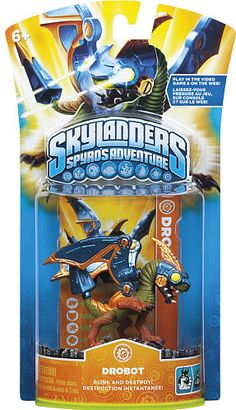#ToysRus                  #Toys #Action Figures     #drobot #weapons #powers #generations #magical #frozen #skylanders #alive #character #adventure #spy #world #pack                 Skylanders Spyro's Adventure Character Pack - Drobot                          Bring your Skylanders to life! Frozen in our world. Alive in Theirs.                                                                                                                 For Generations, the Skylanders have used their magical…